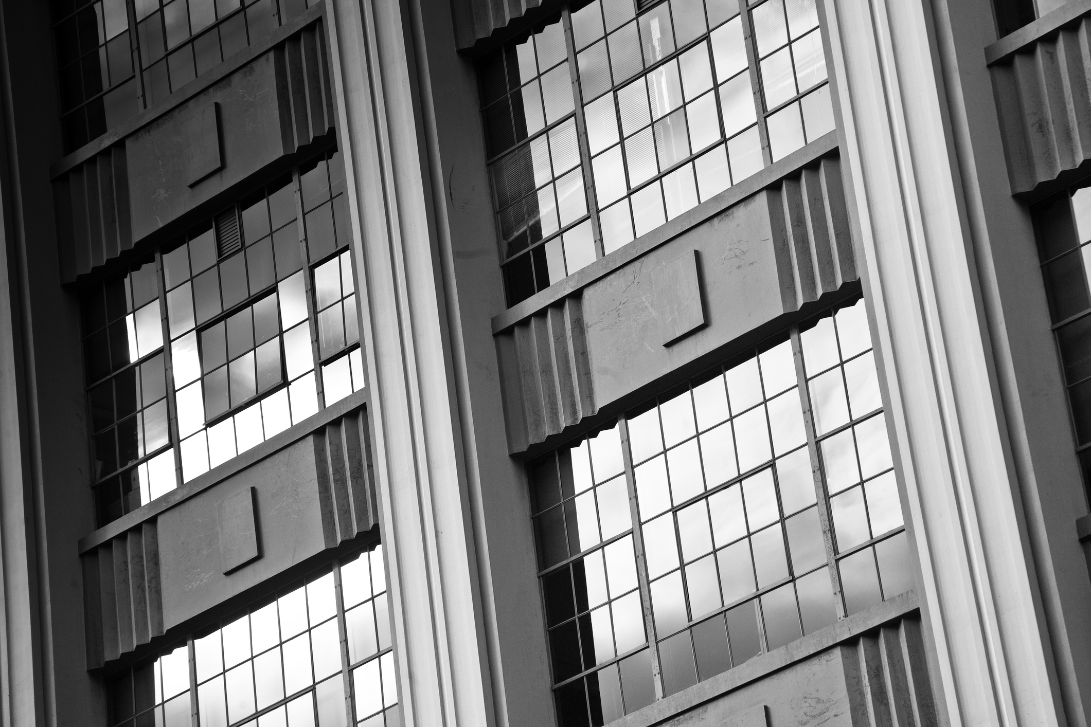 Art Deco Warehouse - Black and White